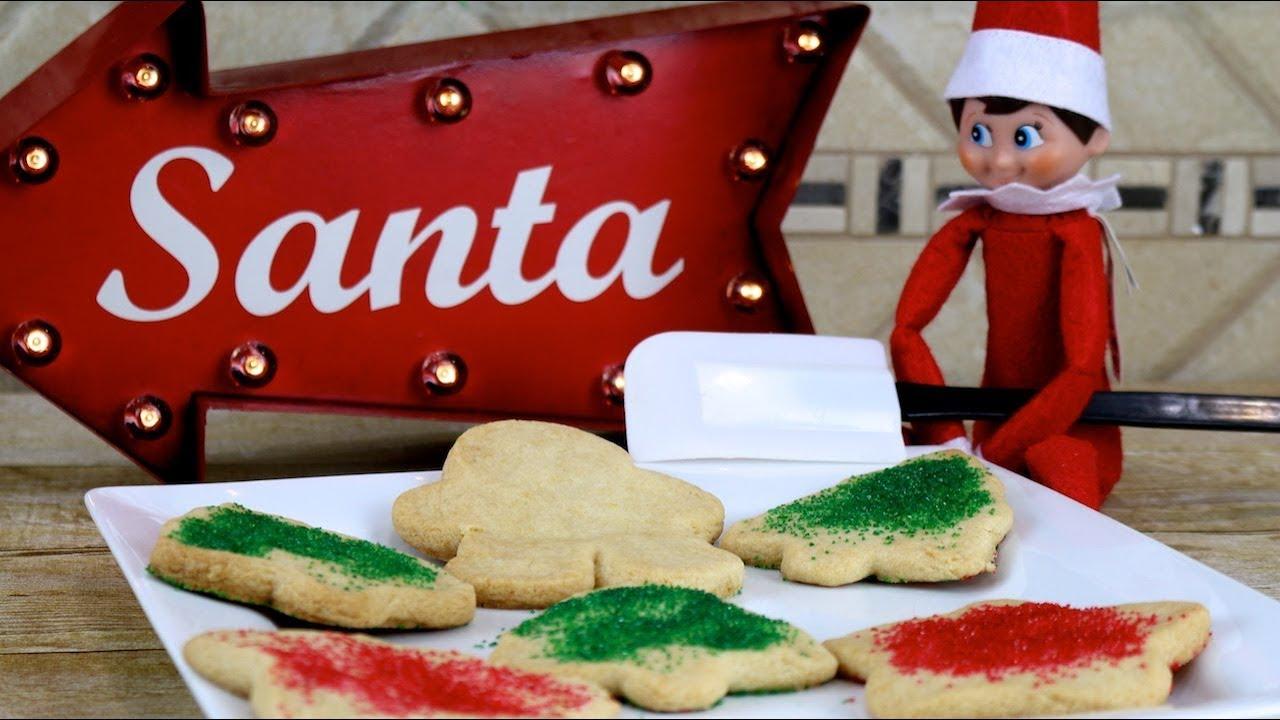 Elf On The Shelf Makes Christmas Cookies Funfoods