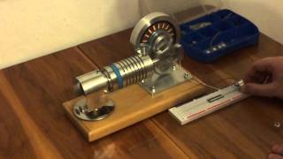 Silnik Stirlinga typu rhombic - prezentacja