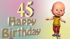 Lustiges Geburtstags Video Alter 45 Jahre Happy Birthday to you 45