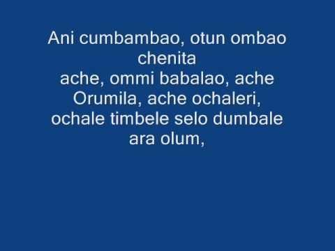 orishas-canto para elegua y shango.lyrics