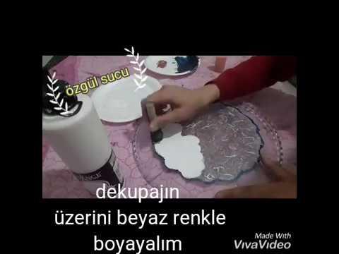 Cam Boyama çini Desen Pirinç Dekupaj Youtube