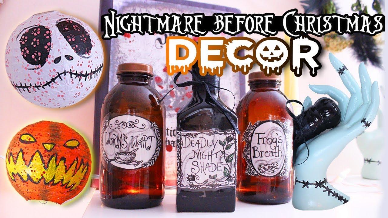 DIY Nightmare Before Christmas Inspired DECOR 💀 STYLOWEEN - YouTube