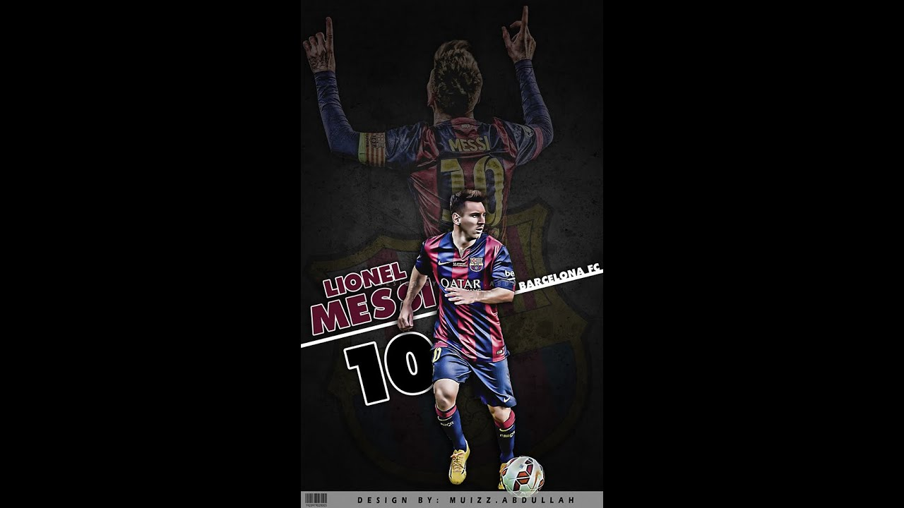 HOW TO CREATE LIONEL MESSI WALLPAPER With PHOTOSHOP