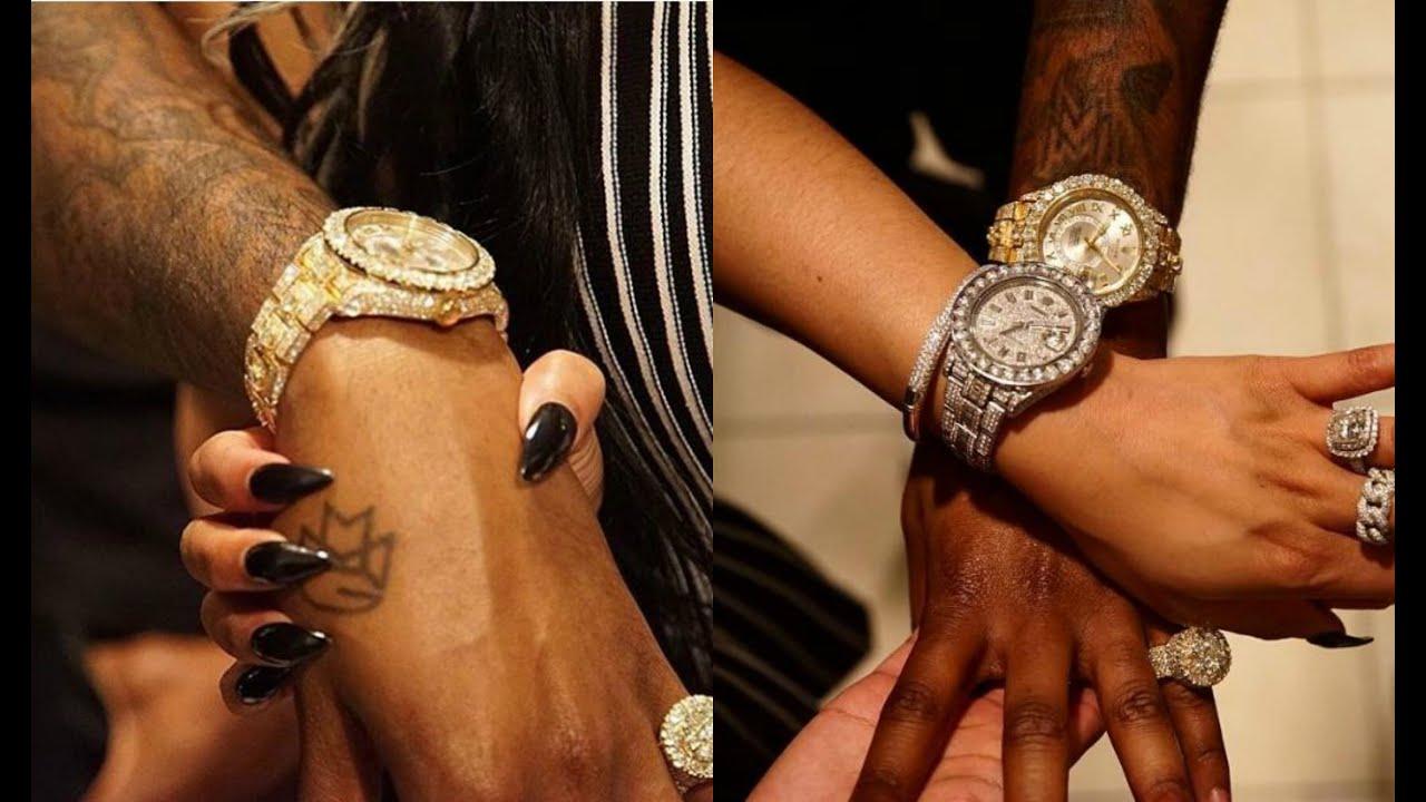 Nicki Minaj Gifts Meek Mill Diamond Rolex Watch For His Birthday ...