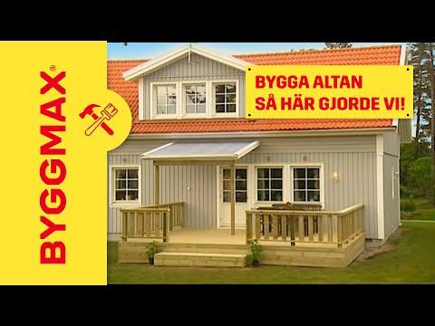 Byggmax tipsar, bygga altan (Lär dig smarta lösningar) - YouTube