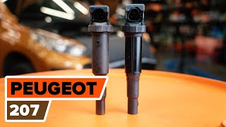 Engine coil installation PEUGEOT 207: video manual