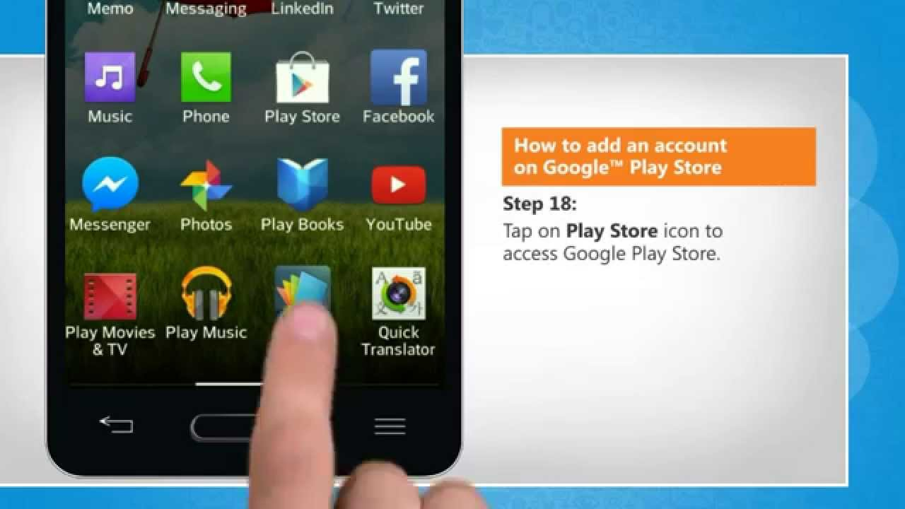 how to add another account to play store