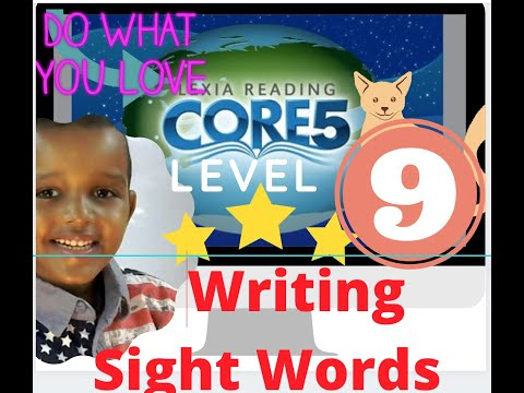 Lexia Core 5 Level 9  Writing Sight Words   Fast Word Search