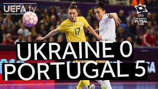 UEFA Women's Futsal EURO Semi-final highlights: Ukraine 1-5 Portugal