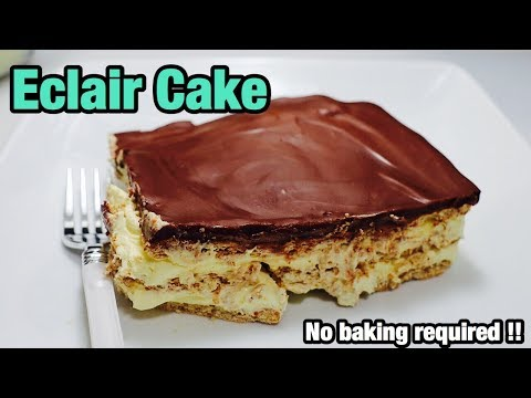 How to make Eclair Cake | No Baking Required | My Fifth Video! | Dada's FoodCrave Kitchen