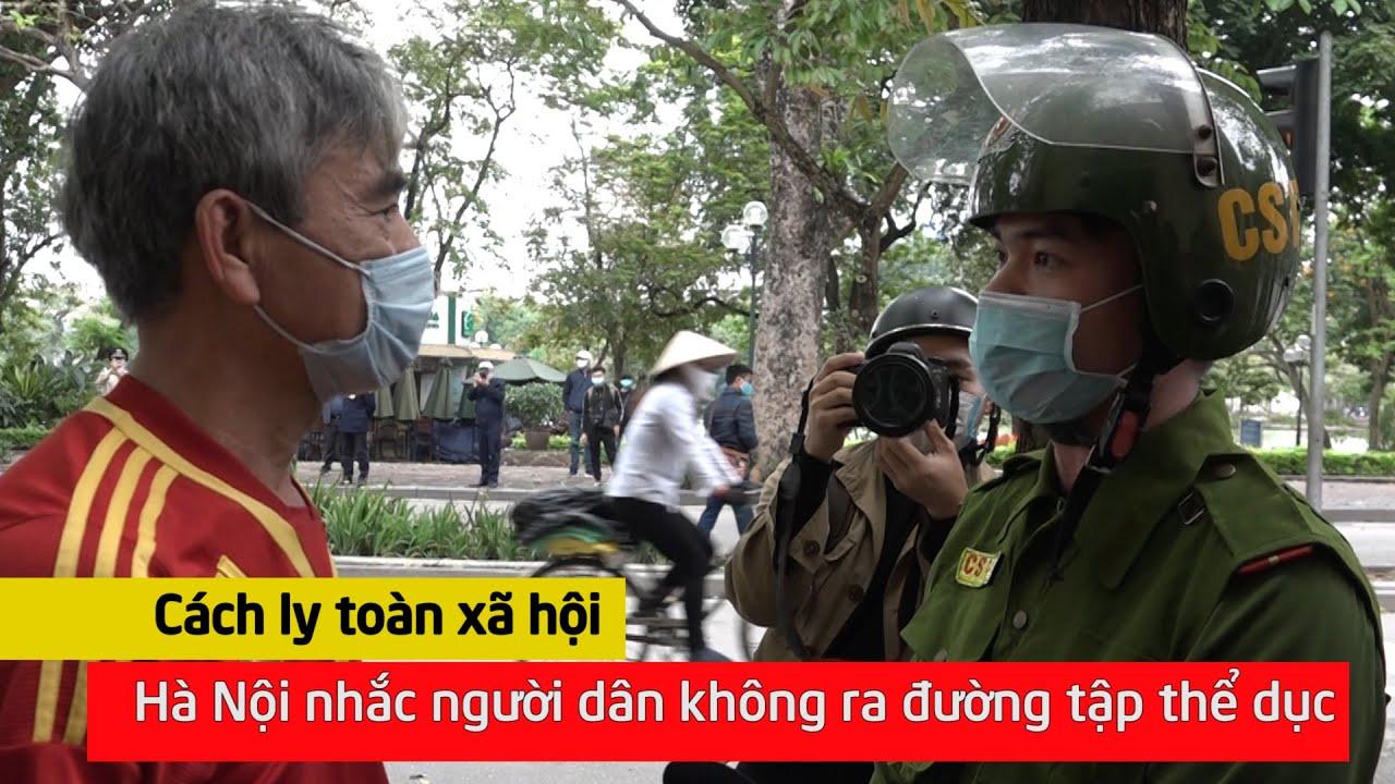 Cách ly xã hội, Hà Nội nhắc người dân không ra đường tập thể dục I VTC News