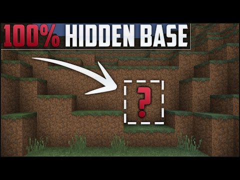 Minecraft How To Build Secret Base Tutorial Hidden House