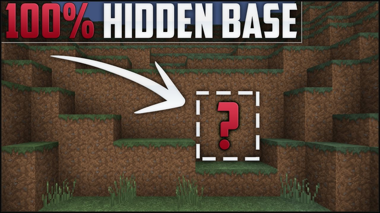 Minecraft How To Build A Secret Base Tutorial Hidden House Youtube