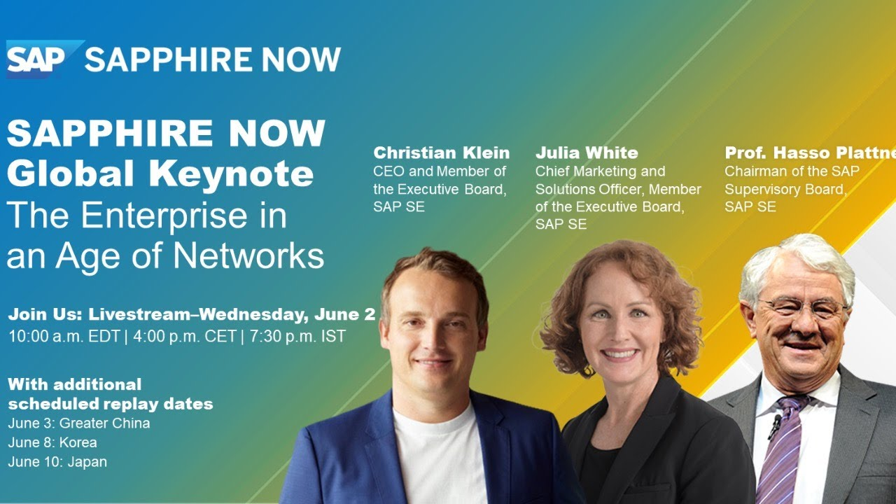 Download The Enterprise in an Age of Networks | SAPPHIRE NOW Global Keynote 2021