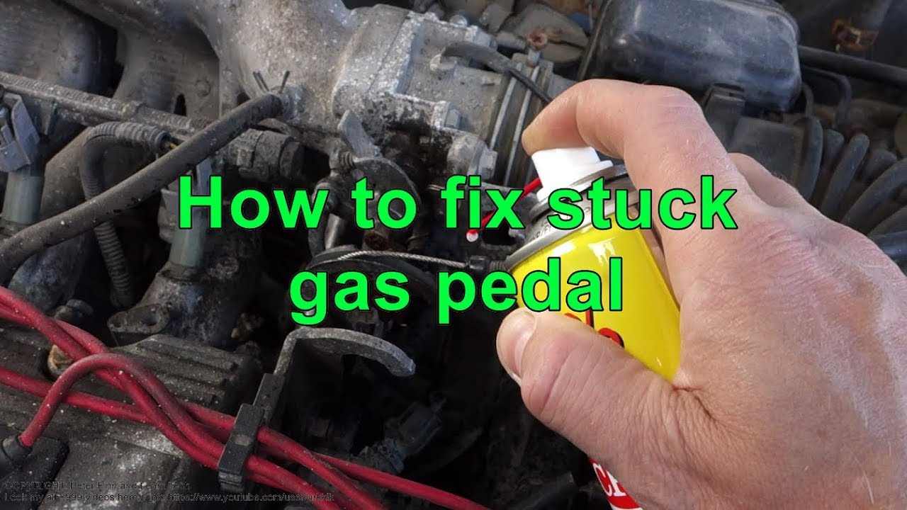 How to fix Stuck, Jam, or Bad gas pedal in car