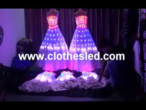 led luminous dress wedding dress light clothing youtube. Black Bedroom Furniture Sets. Home Design Ideas