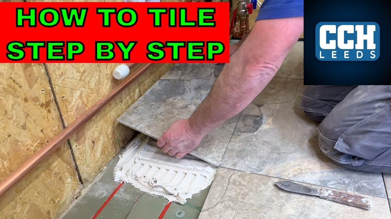 How To Tile A Floor Porcelain Tiles Underfloor Heating