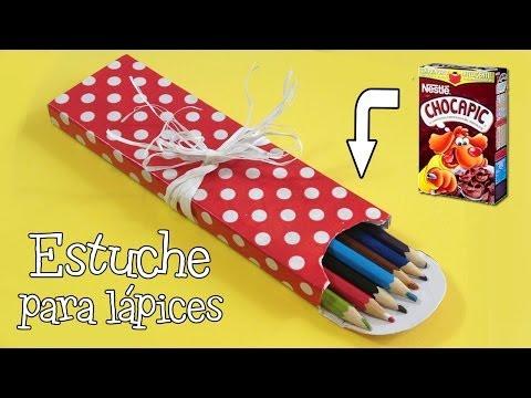 Estuche para lápices | Manualidades con reciclaje