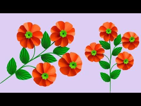 Diy Flower Stick | Paper Flower Stick | How to Make Beautiful Paper Stick Flower | Paper Craft