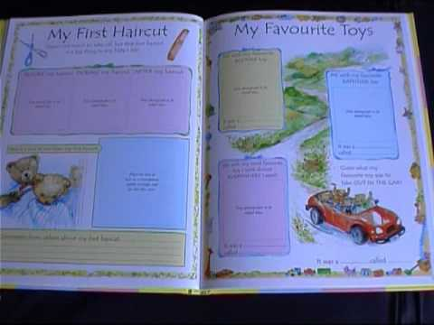 My Baby Book A First Five Year Diary Youtube