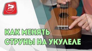 видео Как поменять струны на укулеле