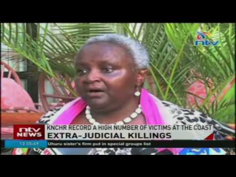 KNCHR records a high number of Extra-judicial killings victims at the coast