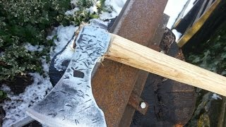 Making A Viking Axe From A Wood Axe