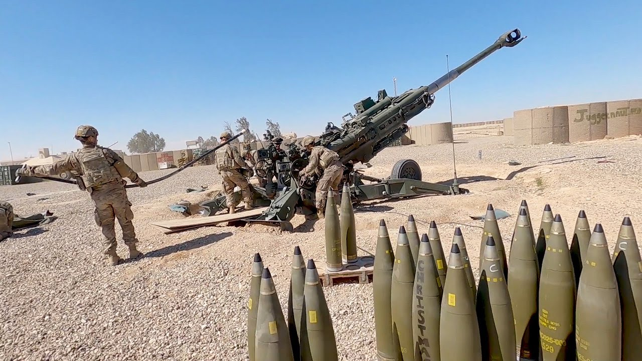 U.S. Marines Fire Massive M777 Howitzers During Exercise Steel Knight