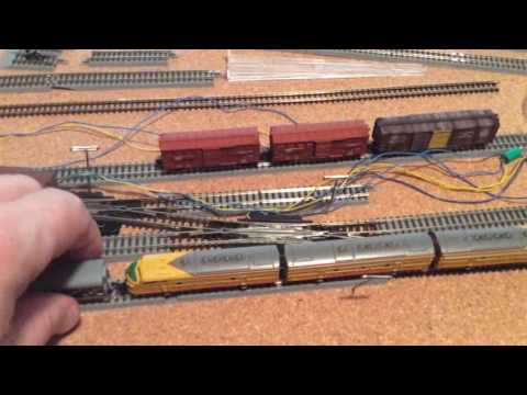 Jerry's Z Scale,  Marklin Union Pacific locomotives with MTL passenger cars