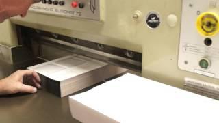 Making Custom Printed Receipt Books - The Cutter