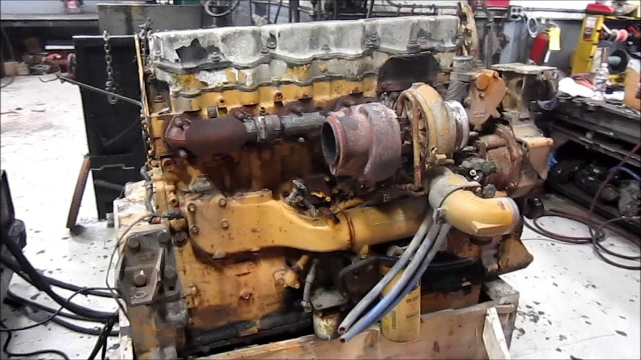 2002 Caterpillar C15 6nz Diesel Engine Running Youtube