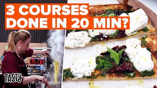 Can I Make A 3-Course Italian Dinner In Only 20-minutes? • Tasty