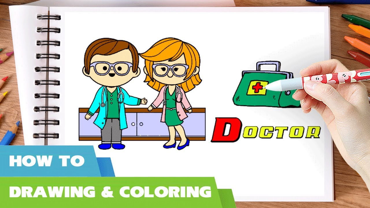 doctor coloring pages i how to draw doctors bag doctor u0027s medical