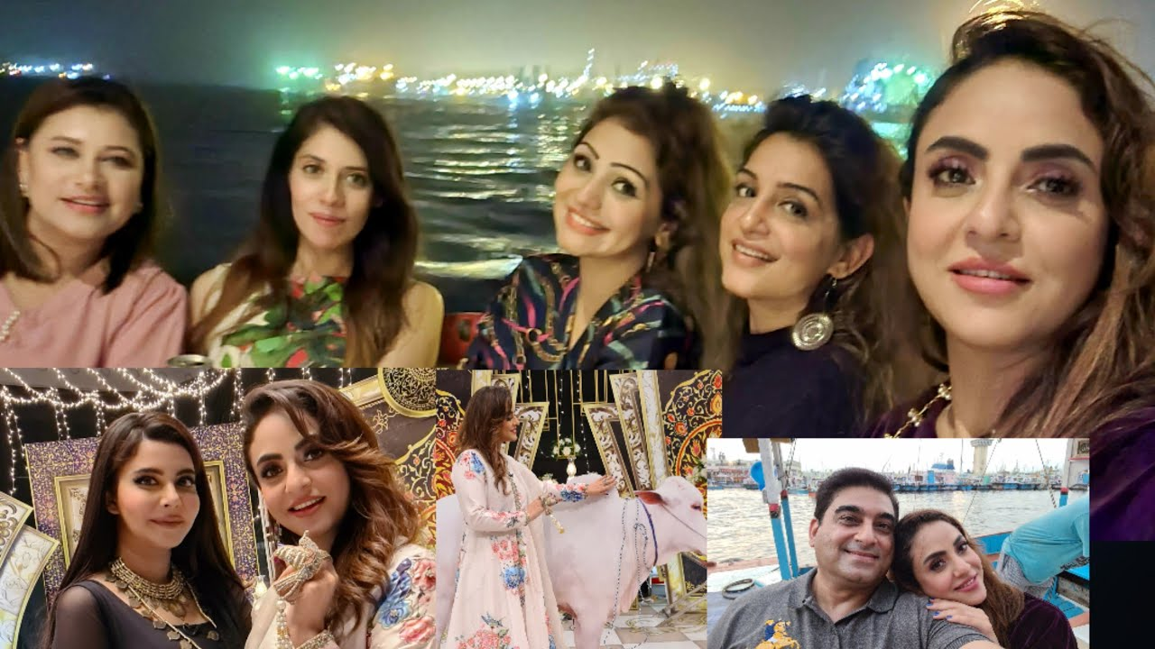 Dressing up for Eid with Nida Yasir and YACHT PARTY with special friends...