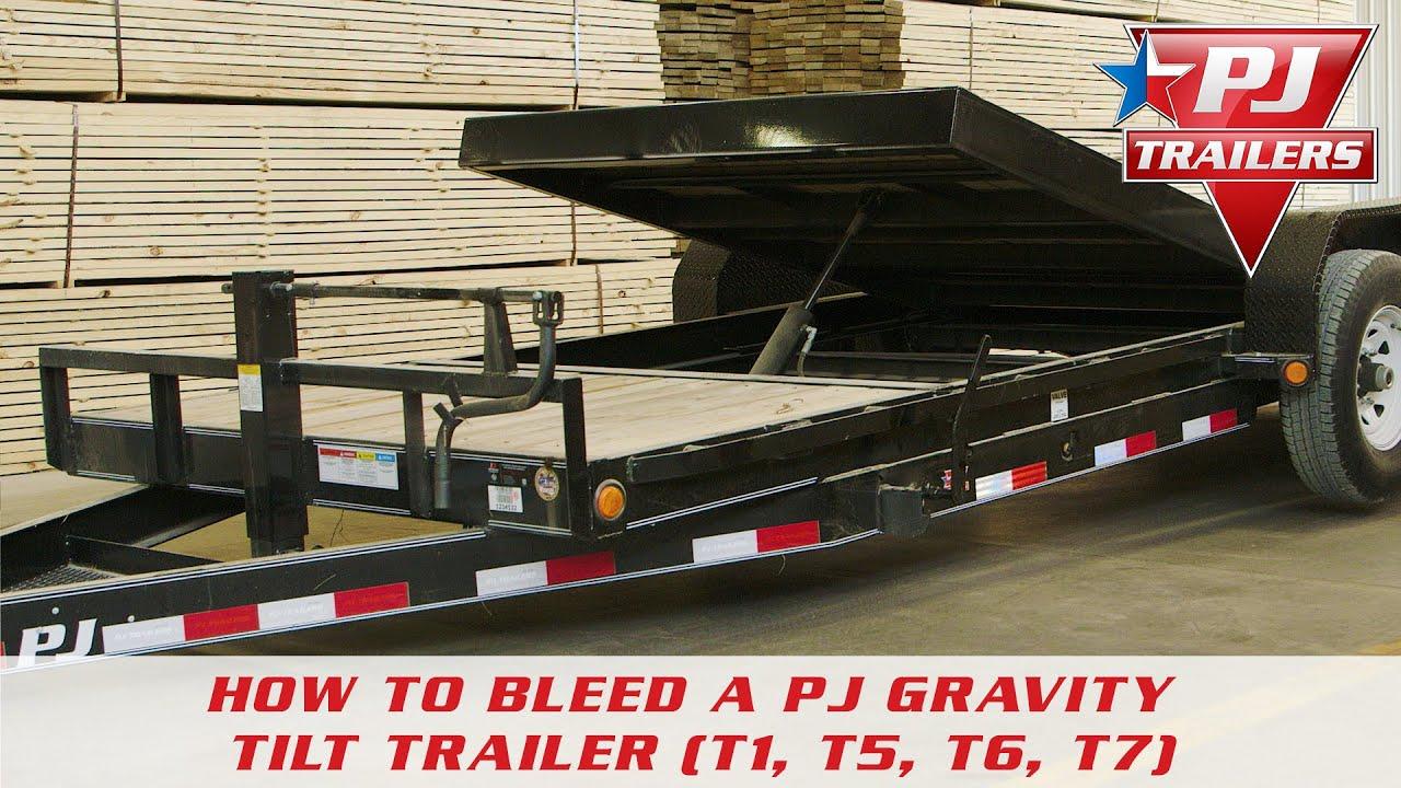 How to Bleed a PJ Gravity Tilt Trailer (T1, T5, T6, T7) - YouTube