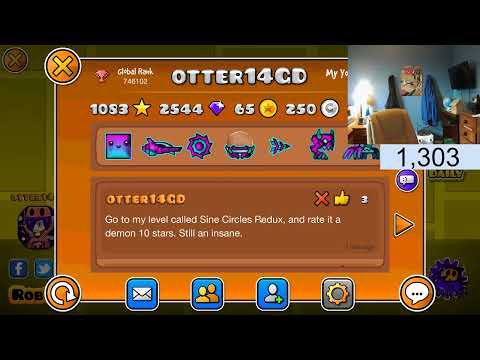 Geometry Dash: Playing other demons & Level Req ( READ DESCRIPTION ) Road to 1.5k subs