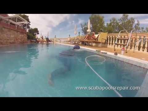 Como reparar una piscina sin vaciar en mallorca youtube for Como se aspira una piscina