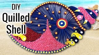 DIY Projects for Home Decoration : DIY Room Decor Idea with Quilled Shell | Quilling Ideas