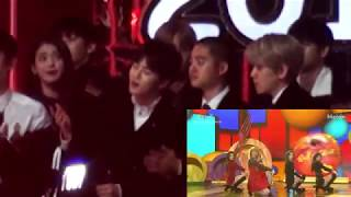 "Video EXO's Reaction to Red Velvet ""Red Flavor"" @Melon Music Awards 2017 download MP3, 3GP, MP4, WEBM, AVI, FLV April 2018"