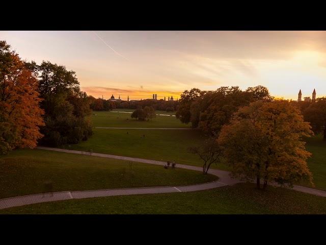 Ein Sonnenuntergang über München