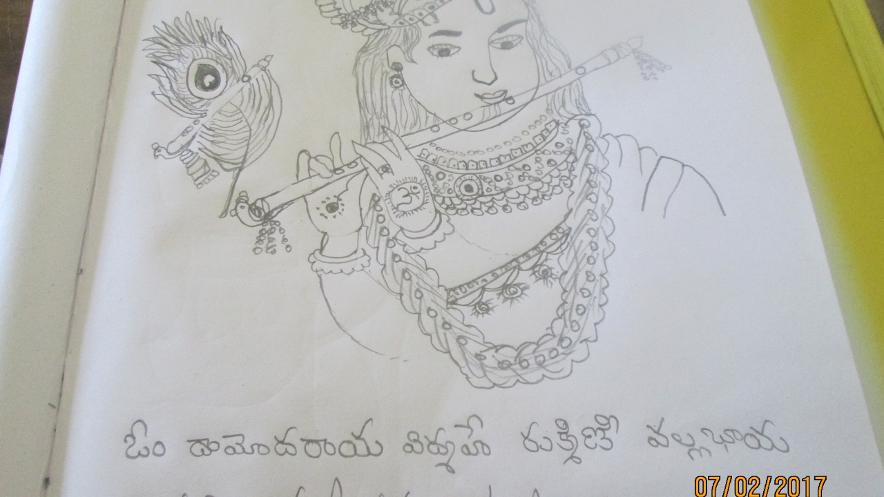 Lord krishna pencil drawing tutorial video