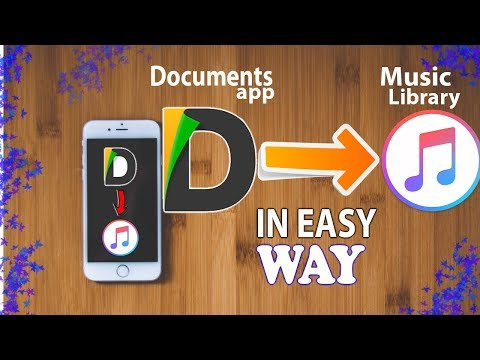 file transfer from documents app to music