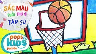 Sắc Màu Tuổi Thơ - Tập 20 - Bé Tập Vẽ Bóng Rổ | How To Draw A Basketball Court