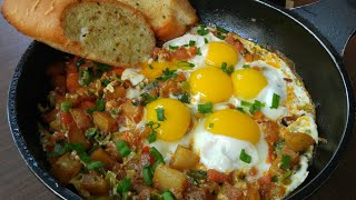Fried Eggs & Vegetables Breakfast idea - By Mind Blowing Cooking