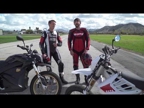 2018 Zero DSR vs. Alta Redshift SM Drag Race!
