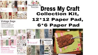 69. Different ways to use Dress My Craft Paper  | Collection Kit, 12*12, 6*6 Paper Pads Look Book
