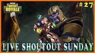 Fortnite: Live Shoutout Sunday #27 - NEW SKIN!!! // 153/200 SOLO WINS // 2,764+ KILLS
