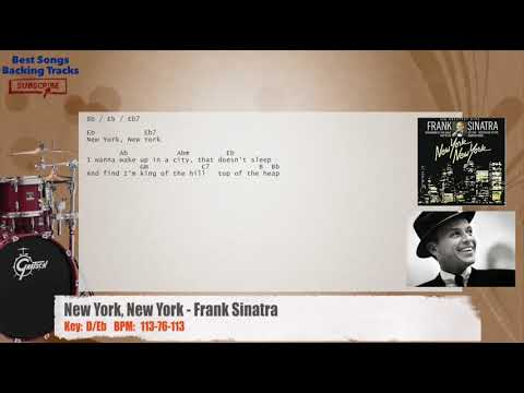 New York, New York - Frank Sinatra Drums Backing Track with chords and lyrics