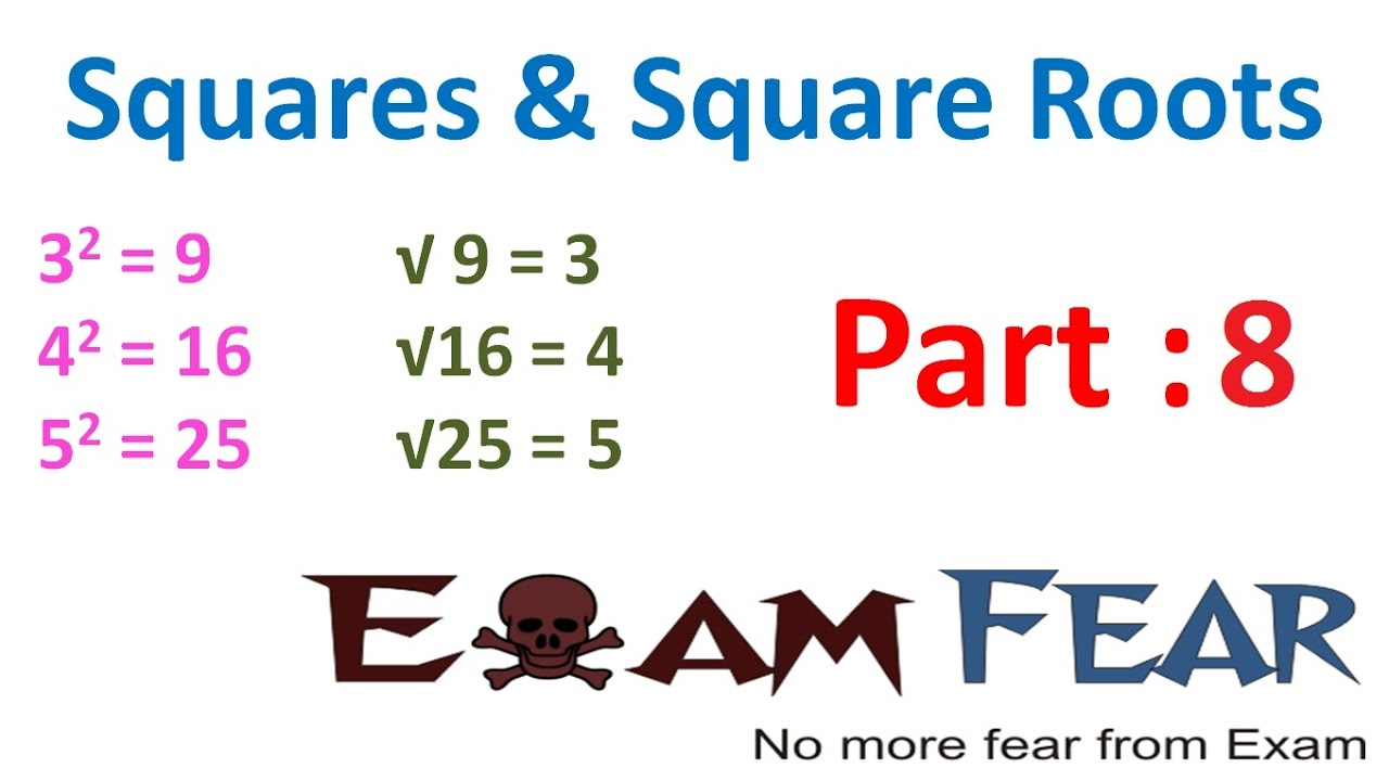 Maths Square And Square Roots Part 8 Interesting Pattern Of Perfect