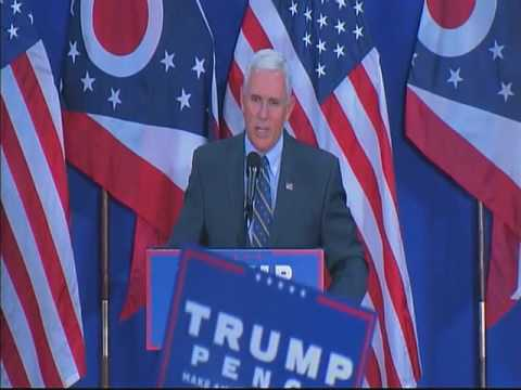 Gov Pence for VP Campain Speech - Cambridge Ohio